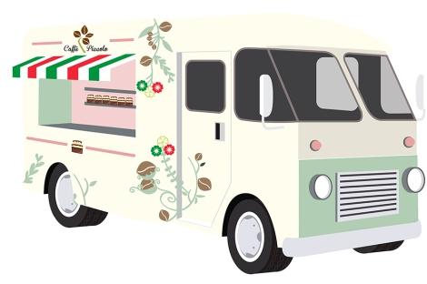 Diseño camión móvil FoodTruck Caffé Piccolo